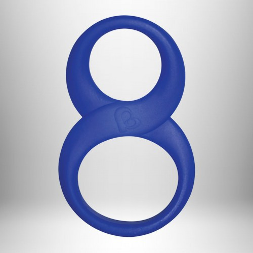 Anilla Silicona Doble 8 Ball Ring Azul 10 Cm