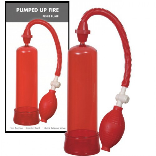 Bomba De Ereccion Linx Pumped Up Fire Rojo 19 cm