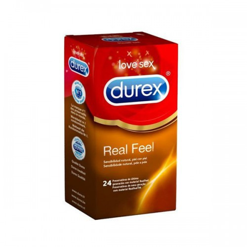 Preservativos sin latex Real Feel Durex 24 unidades