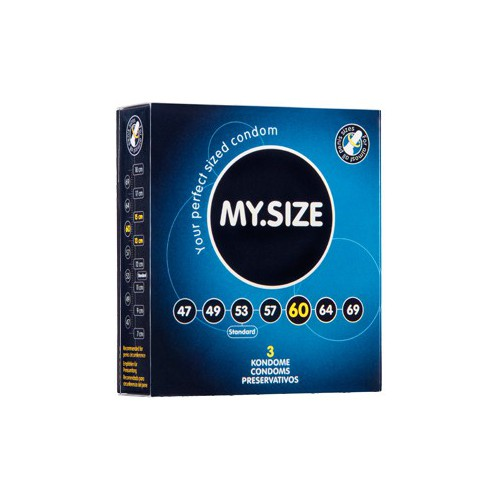 MY SIZE 60 CONDOMS 3PCS