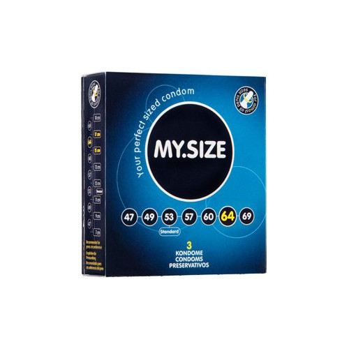 MY SIZE 64 CONDOMS 3PCS