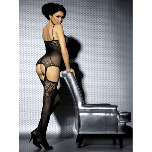 Bodystocking F204 negro XL/XXL