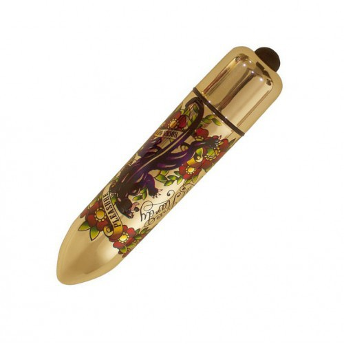 Bala vibradora RO-120 Gold Metallic Tatoo 10 PP