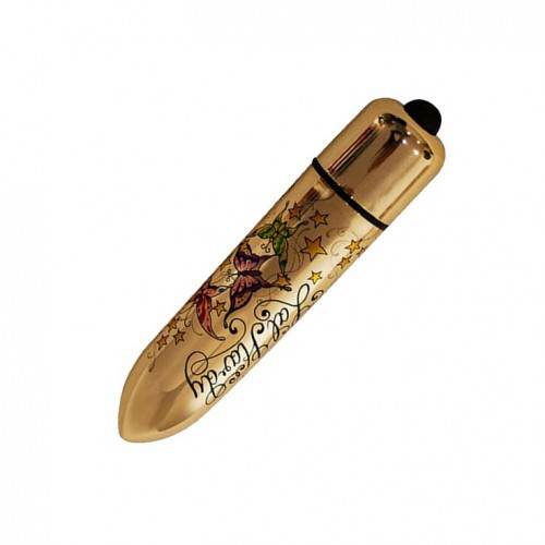 Bala vibradora RO-120 Gold Metallic Tatoo 10 WD