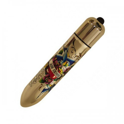 Bala vibradora RO-160 Gold Metallic Tatoo 10 LM
