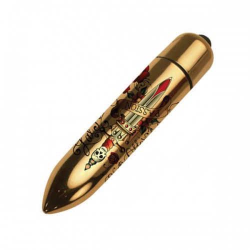 Bala vibradora RO-80 Gold Metallic Tatoo 7 DP
