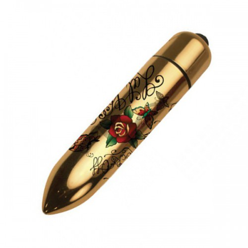 Bala vibradora RO-80 Gold Metallic Tatoo 7 FF