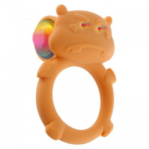Anillo vibrador Happy Hippo C-Ring Naranja