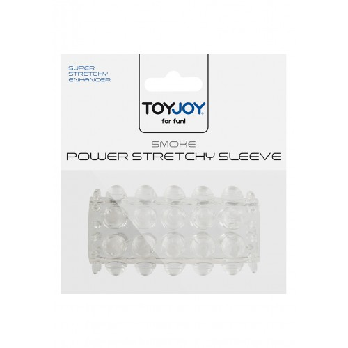 TOYJOY POWER STRETCHY SLEEVE CLEAR