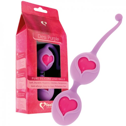 FEELZTOYS DESI LOVEBALLS PURPLE