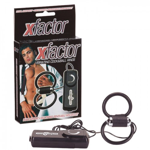 X-FACTOR VIBRATING COCK&BALL RINGS