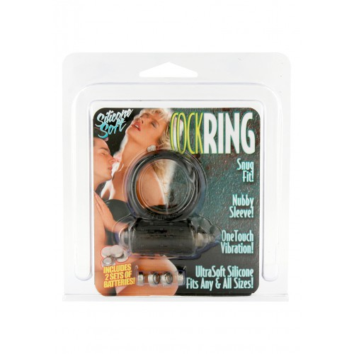 VIBRATING COCKRING SILICONE BLACK