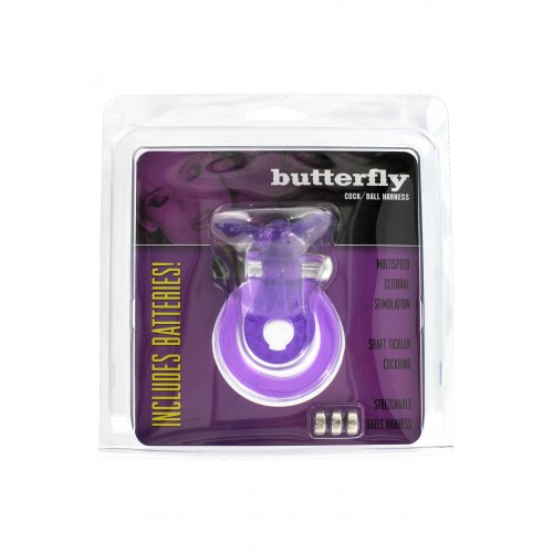 COCK&BALL RING BUTTERFLY JELLY VIBE