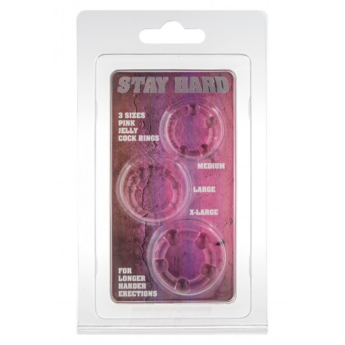 STAY HARD - THREE RINGS - PINK