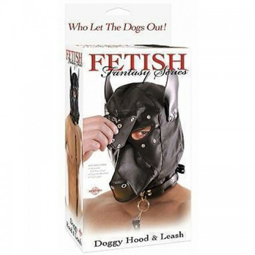 Fetish Fantasy Máscara Doggie Hood Leash