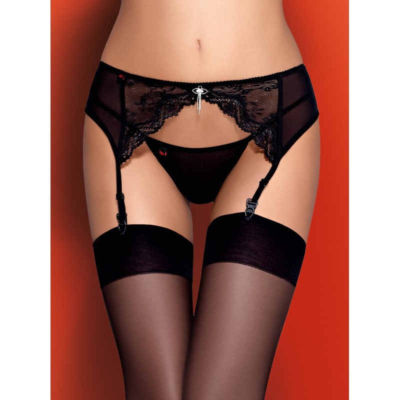 Charms Garter Belt Negro L/XL