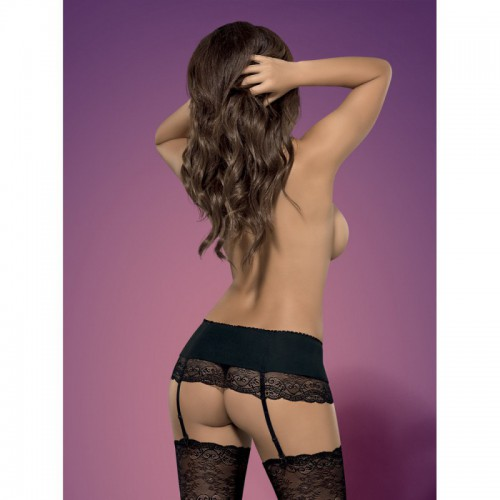 Miamor Garter Belt Negro L/XL