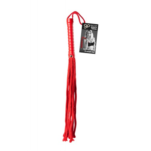 Látigo GP Cotton String Flogger Rojo 50 cm