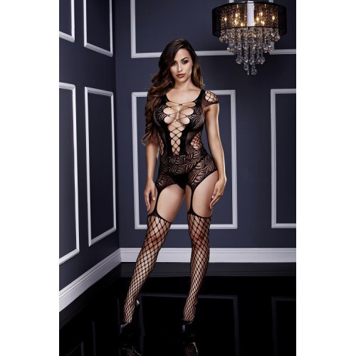 Bodystocking Baci White Negro Talla Unica