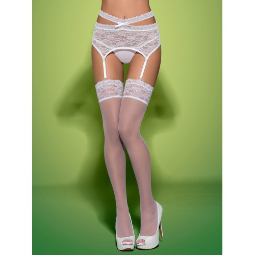 Swanita Stockings Blanco L/XL